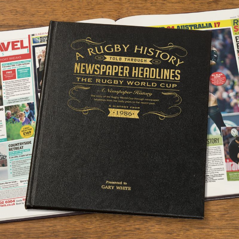 International Rugby  History - Newspaper Book | Sweet and Nostalgic